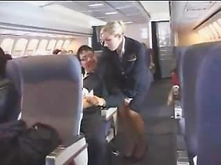 Handjob, Masturbation, Stewardess, Uniform