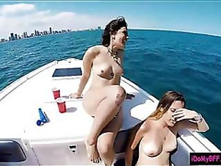 Slutty Teen Besties Boat Party Leads To Nasty Group Sex
