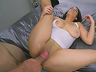 Busty Brunette With Big Booty Slammed Very Hard