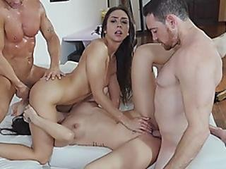 Dads Trade Stepdaughters For Some Hot Action When They Visit
