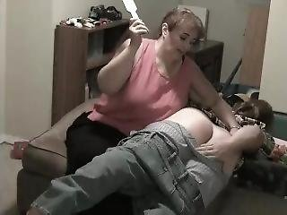 Teen Boy Spanked By Mom