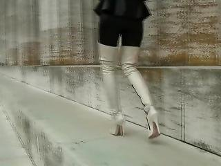 Mistress In White Boots