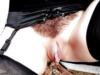 Exibition Hairy Pussy Outdoor