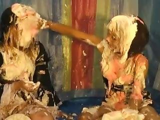 Asian Girls Pied And Slimed 14