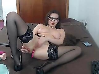 Nerd Girl Rebels And Show Pussy On Cam - Watch Part2 On Teenanalcam.com