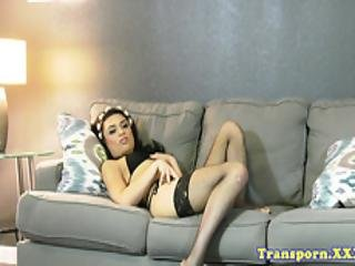 Beautiful Natural Tranny Strips And Jerksoff