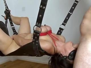 My Slave Jenny Throat Fucked In A Swing