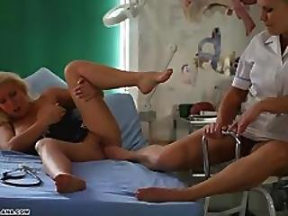 Sexy Milf Lana Cox Gets Toe Sucked And Footjob From Naughty Nurse