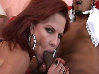 Redhead Crystal White Riding Cock Like Crazy
