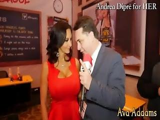 Ava Addams Plays With Her Boobs For Andrea Dipre