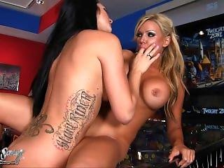 Angie Savage & Destiny Dixon At The Arcade