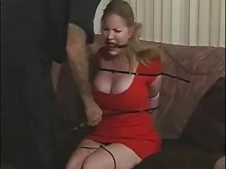 Amber Michaels Ziptied And Topless