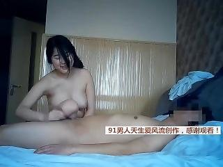 Chinese Student Prostitute Fucks Client