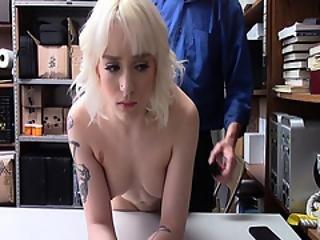 blonde, pijp, hardcore, poes, tattoo, Tiener