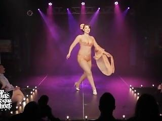 Burlesque Performer Nipple Slip On Stage