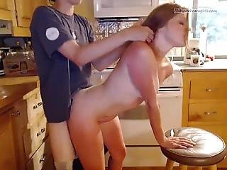 Kelly Fucks In The Kitchen With Facial - Filthywebcamgirls.com