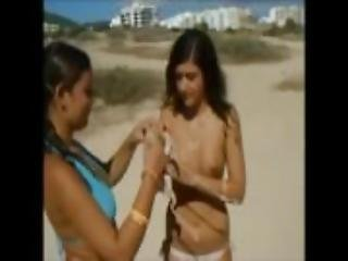 Teens Great Tits In Beach