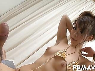 Adorable Asian In Upskirt Receives Uncouth Jamming