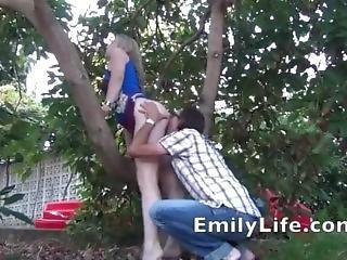 Emily Life Fucking In The Garden For Voyeur