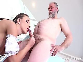 Old-n-young.com - Lita Phoenix - Sexy Maid Serves Old Man