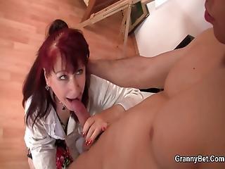 Woman Horny blowjob mature