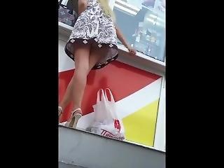 おまんこ, 大きなおまんこ, 成熟した, パンティー, パブリック, スカート, アップスカート