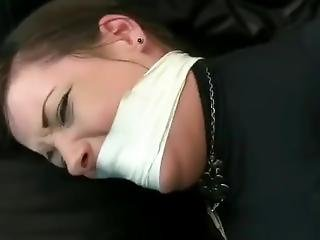 Jade Tied Up And Gagged By Burglar