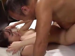 Slender Busty Girlfriend Has Been Touched By My Father