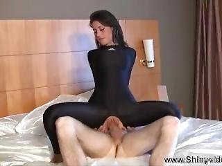 Jess West Full Body Catsuit Fucking
