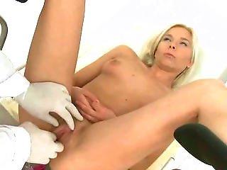 Blonde Sucks Her Doctors Cock