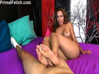 Cumshot, Feet, Fetish, Foot, Footjob, Horny, Lotion, Pornstar, Teen, Toes