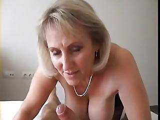 Brit Milf Sucking Cock