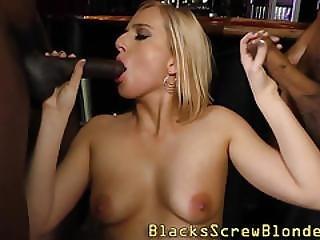 Interracial Group Blonde