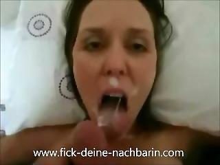 German Teen Fickt Und Lutscht Den Schwanz. Gesichtsbesamung
