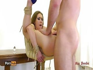 Naughty Teen Tied Up And Punished With Rough Assfuck And Throa. Mia Bandini