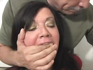 Gigi Bound, Gagged And Panty Hooded By Intruder