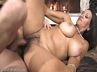 Big Titted Persia Monir Gets Her Hairy Pussy Filled With Cum