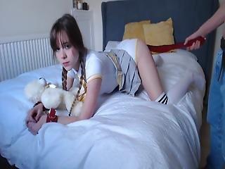 Spanked Tiny Girl (18yo)