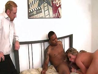 Blonde Gets Pissed And Fucks A Black Cock