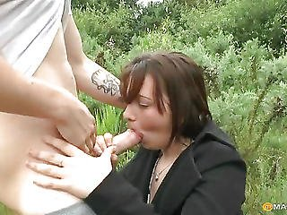 Spreads His Aunt Blowjob