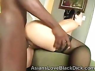 Tiny Asian Gets Her Twat Pounded By A Big Black Stud