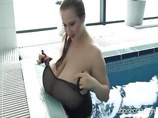 342abbi Secraa - Black Swimsuit