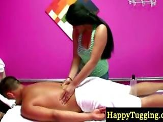 Sexy Asian Masseuse Busy At Work