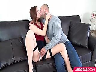 18 Year Old Has Pussy Stretched By Friends Thick Cock
