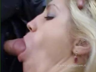 Sex In The Garden For Sexy Blond Lady