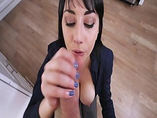 Milf Alessandra Snow Hot Deep Throat Blowjob