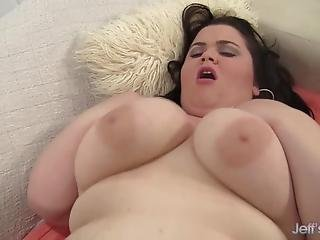 Juicy Jugs Fatty Holly Jayde Takes A Long Dick Deep In Her Mouth And Pussy