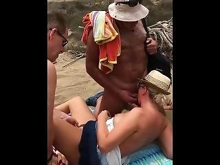 Old Man Fucks On Beach