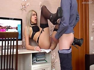 Hot Office Slut In High Heels Gets Fucked In Tight Pussy