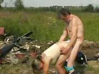 Horny Homeless Old Man Drilling Girl In Doggystyle